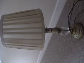 gold lamp in good condition with lamp shade as well.