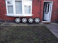 205/55/16 Tyers with alloy wheels