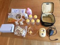 Medela Freestyle Double Electric Breast Pump Plus Extras