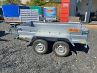 BRAND NEW 7.7x4.2 DOUBLE AXLE TRAILER FLAT TIPPING FEATURE