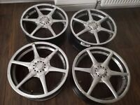 """17"""" alloy wheels, universal fittings, came off from astra will fit others"""