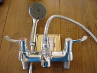 Bathroom shower chrome mixer tap complete
