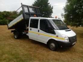 Transit double cab tipper
