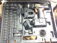challenge drill 12 v and socket set