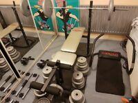 Weights Bench, Leg Press, Abb Crunch Matt, Barbells, Dumbells, Weights - Home Gym Equipment