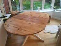 Extendable Hardwood Dining Table