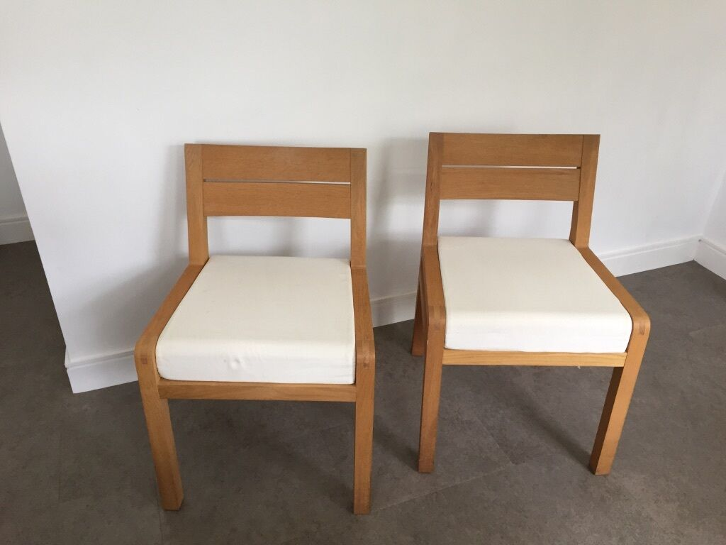 Habitat Radius Solid Oak Dining Chairs