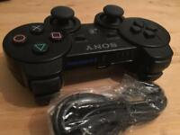 PS3 dual shock controller & lead