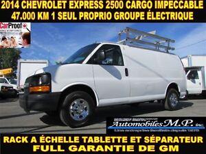 2014 Chevrolet Express 2500 CARGO 47.000 KM GROUPE ÉLECTRIQUE RA