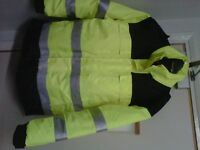 A nice and warm (L)Size hivis coat is for sale