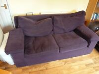 Purple 2 Seater Sofa bed