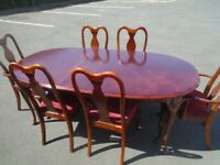 DINING TABLE AND 6 CHAIRS at Haven Trust's charity shop at 247 Radford Road, NG7 5GU