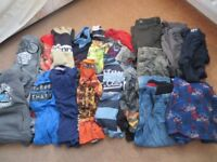 5-6 YEARS BUNDLE OF BOYS AUTUMN/WINTER CLOTHES 19 ITEMS JUST £5.00