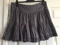 Pretty grey summer skirt, size 16
