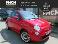 FIAT 500 2008 1.4 SPORT - MOT 2019 - JUST SERVICED - 2 KEYS - c1 fiesta 107 corsa (red) 2008
