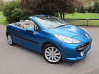 2007 (07) Peugeot 207 CC 1.6 16v GT 2dr, Ivory Leather..Tidy Car, Low Miles CHEAP Summer Cruiser!