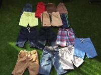 15 pairs of boys shorts aged 2-3