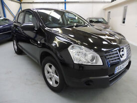 2009 (09) Nissan Qashqai 1.6 Visia March 18 MOT + Service History. 1 Lady Owner
