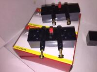 Hornby OO Spring buffers, fixed buffers, uncouplers and power clips.