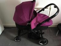 Oyster pram with carrycot and Britax car seat