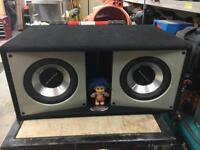 "2 x Orion 10"" subwoofers in solid box"