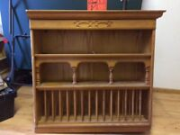 Large solid pine plate rack