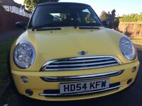 2005 MINI 1.6 MINI COOPER 3dr Hatchback,YELLOW Color,91000 Miles,54 Reg,Good,A/C,Alloys,FSH,2 Owners