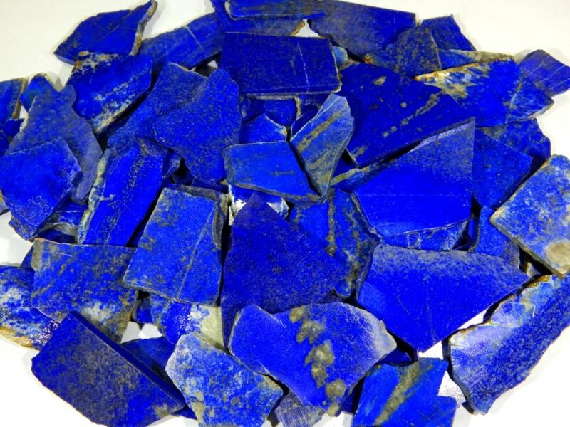 500Crt NATURAL BLUE LAPIS LAZULI ROCK ROUGH SLAB TILE AFGHAN UNTREATED GEMSTONES