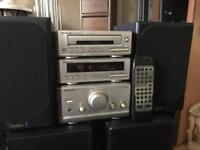 Technics hd50 hifi system with goodmans Speakers and remote