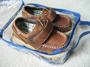 LESS THAN HALF PRICE NEW GYMBOREE LEATHER DECK SHOE - SIZE 8