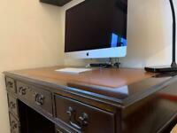 Pedestal style office desk with matching filing cabinet