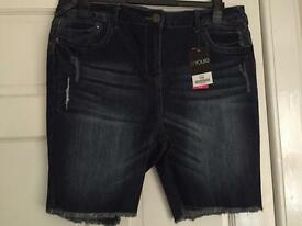 Women's Size 18 Denim Shorts New With Tags