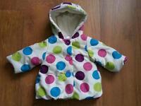 Baby girls winter jacket 0-3 months