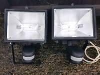 Two Pir Garden Lights 300 Watt NO MANUAL OVER-RIDE