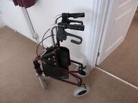 3-wheeled mobility walker