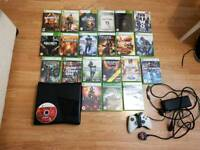 Xbox 360 console with 30 games