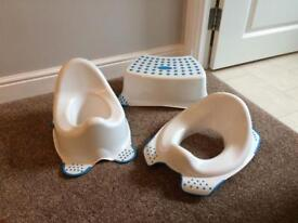 Potty, Training seat and foot stool