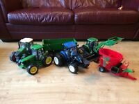 Selection of toy tractors.