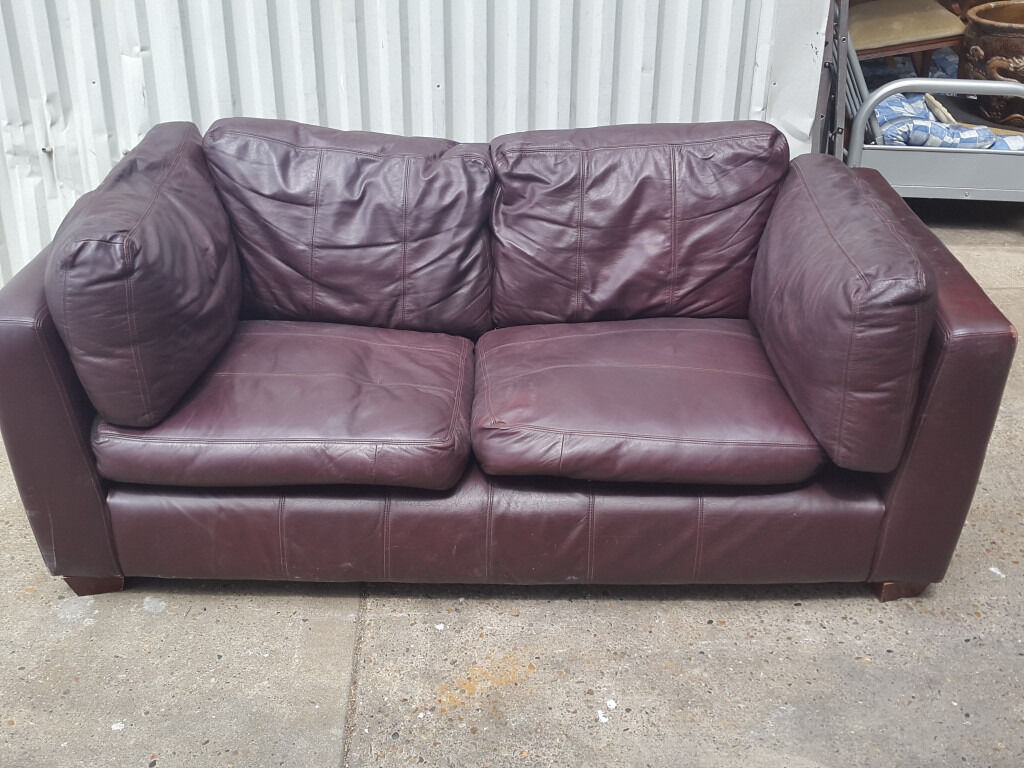Comfy leather sofa - Large Comfy Leather Sofa Burgandy