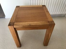 Small square solid oak coffee table (great condition)