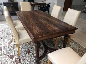 Mahogany Rectory table. Seats 6.