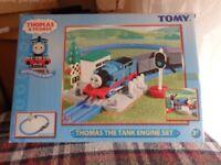 Thomas the tank engine motor and rail train set