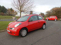 NISSAN MICRA 1.2 VISIA HATCHBACK STUNNING RED NEW SHAPE 2009 BARGAIN ONLY £1450 *LOOK* PX/DELIVERY