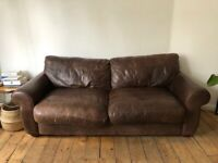Faux Leather sofa ( but looks like leather !)