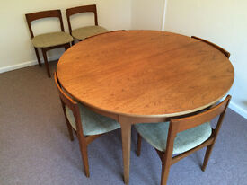 Quality Nathan 1970s Dining Table and Six Chairs