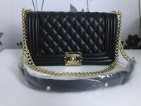 CHANEL BOY STYLE HANDBAG (REP) LOOKS GOOD