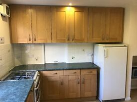 *FREE* Kitchen cupboard doors and one single cabinet for sale. Excellent condition