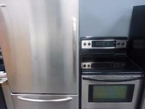 50- 4 ELECTROMENAGER FRIGO CUISINIERE Laveuse Secheuse Frontale Frontload Fridge Stove Washer Dryer
