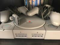 PlayStation 1 - ps1 with games and controllers