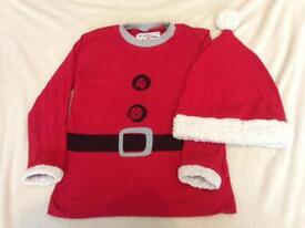 Next musical top and jiggly Christmas hat 4-5 years